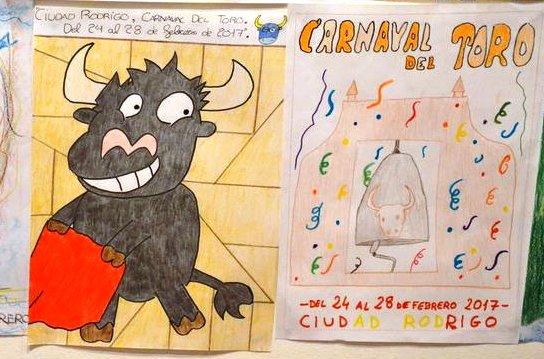 Expuestos los dibujos presentados para anunciar el Carnaval del Toro