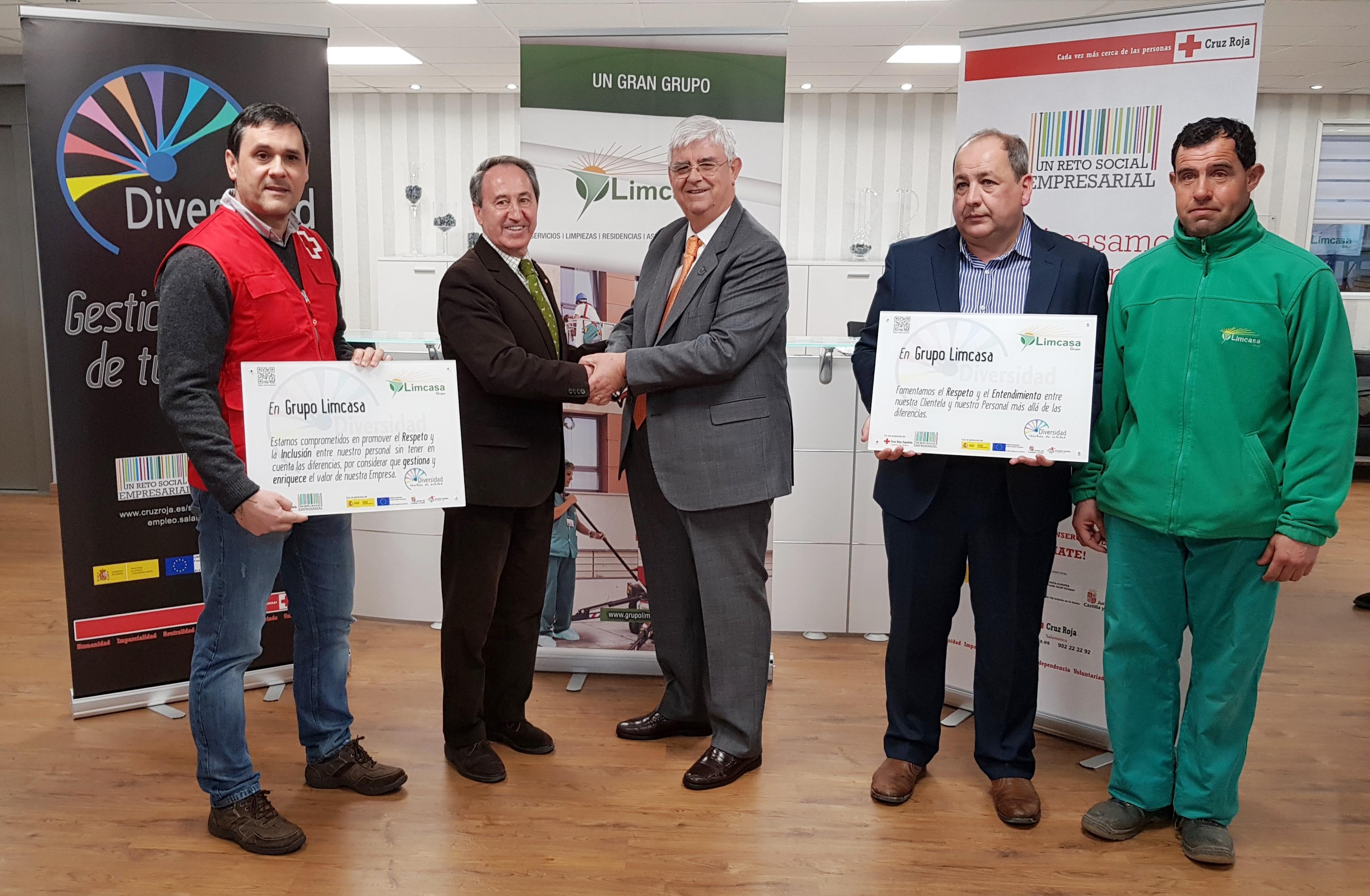 Grupo Limcasa se adhiere al 'reto social empresarial' del plan de empleo de Cruz Roja Salamanca