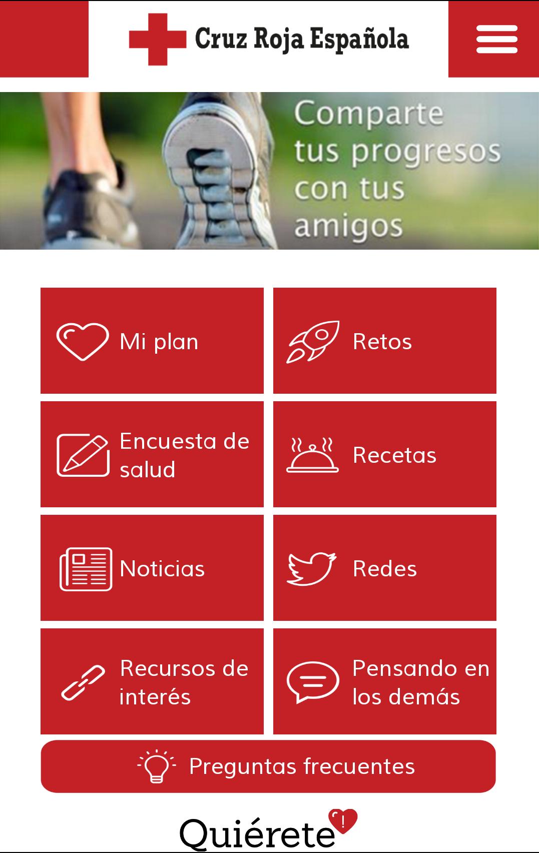 Cruz Roja presenta la app 'Quiérete'