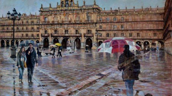 El artista Antonio Varas trae la esencia salmantina a la Sala Garcigrande