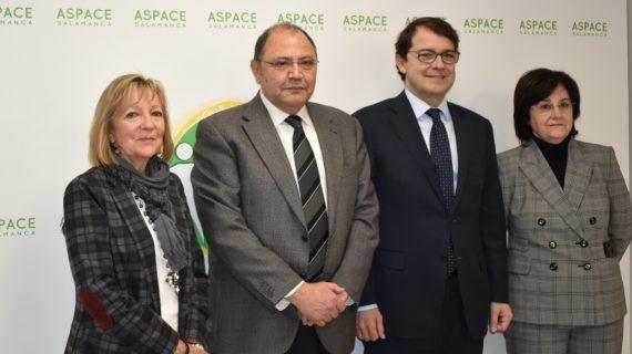 Mañueco visita las nuevas instalaciones de Aspace