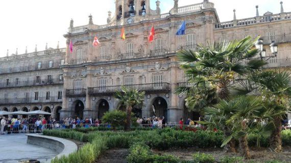 ¡Un jardín en mitad de la Plaza Mayor!