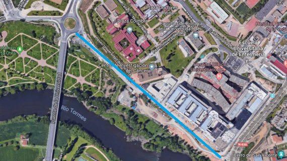 La construcción del Paseo de la Transición Española facilitará el acceso al nuevo complejo hospitalario