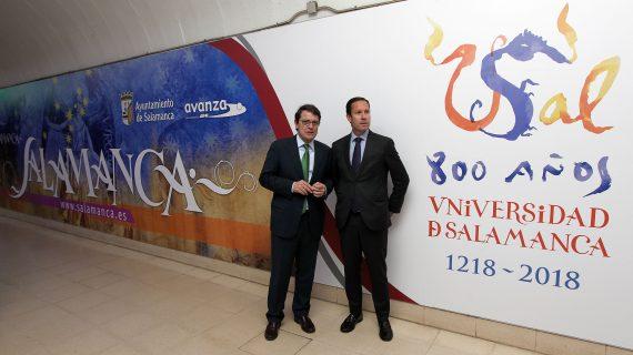 El VIII Centenario de la USAL luce su imagen en Madrid