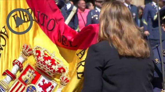 Multitudinaria Jura de Bandera española en la Plaza Mayor