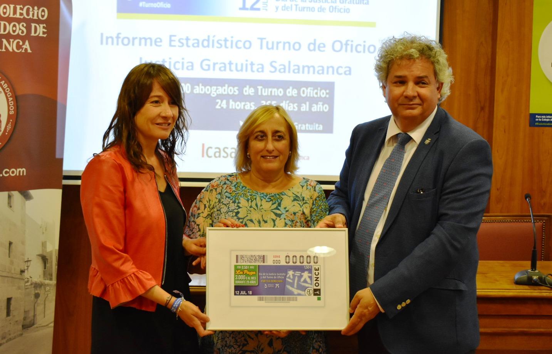 La ONCE repartirá 5'5 millones de euros con el cupón del Día de la Justicia Gratuita y el Turno de Oficio