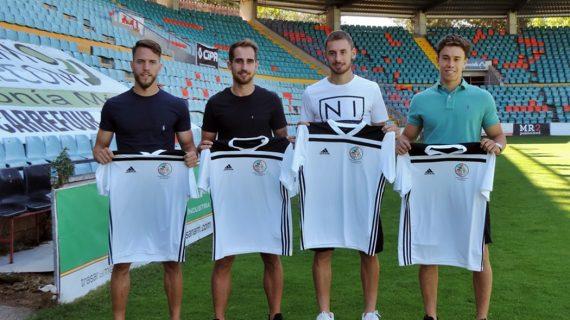 El Salamanca CF UDS presenta a González, Molina, Calero y Junior