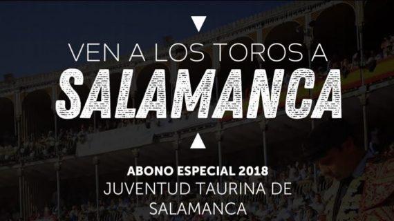 ¡A los toros en Salamanca con Juventud Taurina por sólo 50€!