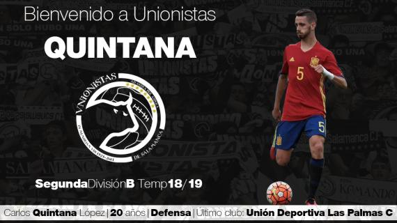 El central Carlos Quintana llega cedido a Unionistas de Salamanca