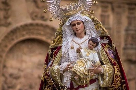 La Virgen del Rosario procesionará por el centro de Salamanca este sábado