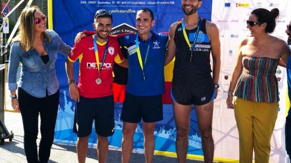 El policía salmantino Santi Marcos, medalla de bronce en los Juegos Europeos de Policías y Bomberos
