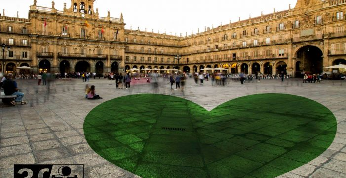 La Plaza Mayor 'latirá' a ritmo de un corazón verde gigante