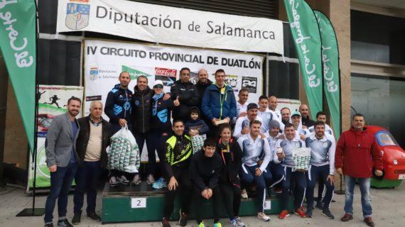 Moisés Dueñas y Sonia Sánchez se llevan el Duatlón Cross El Corte Inglés Salamanca
