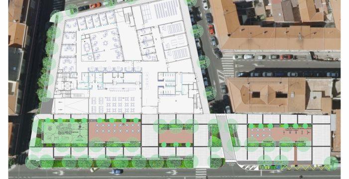 El entorno del Centro de Convivencia 'Victoria Adrados' contará con una amplia zona peatonal y verde