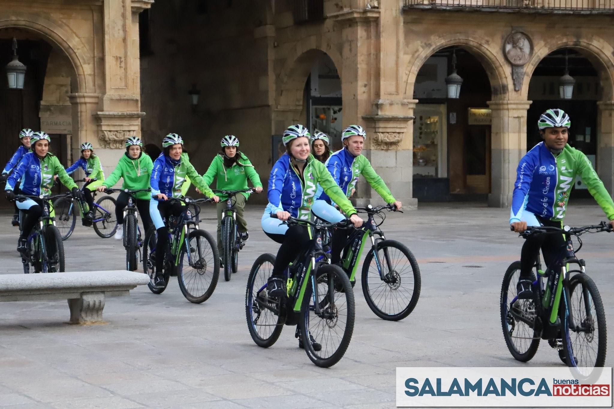 La ruta ciclista 'Moving for Climate NOW' parte de Salamanca hacia la Cumbre del Clima (COP25)