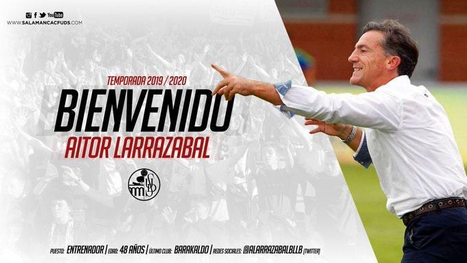 Aitor Larrazabal, nuevo entrenador del Salamanca UDS hasta el final de temporada
