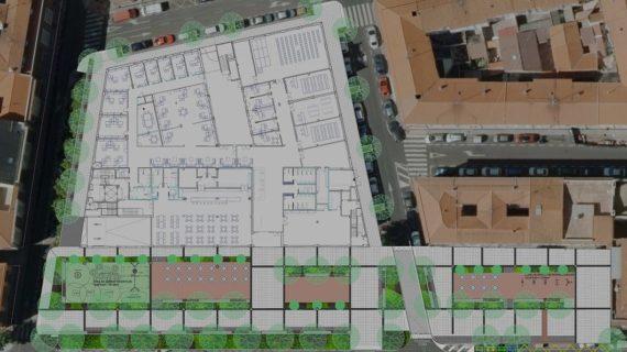El entorno del Centro de Convivencia 'Victoria Adrados' será una amplia zona peatonal y verde